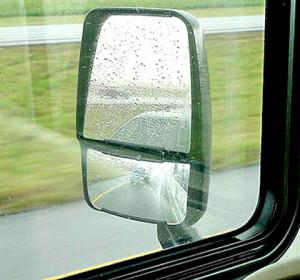 Mirror Driver in Rain